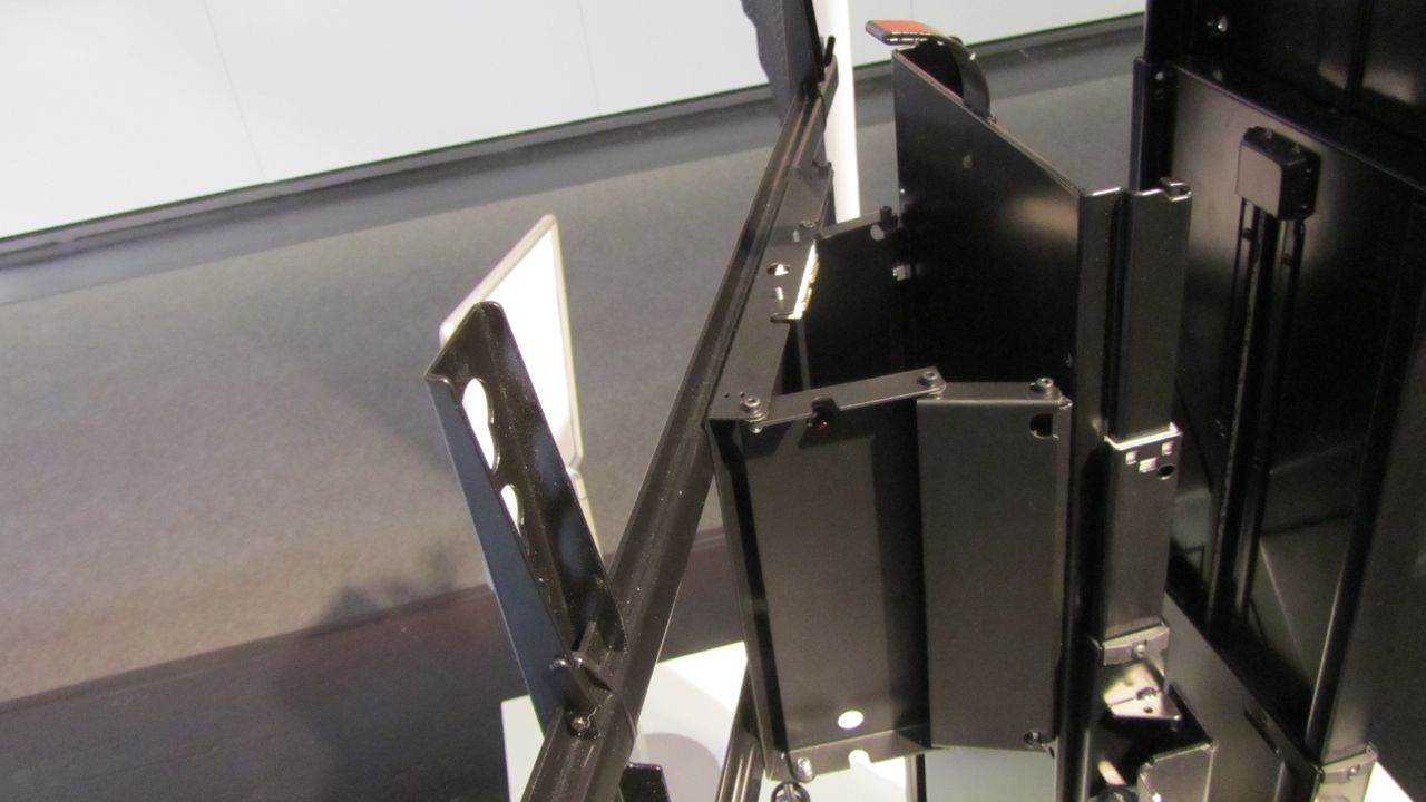 Tv lift mechanism with swivel custom made black foot for Motorized tv lift with swivel